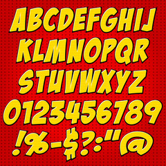 comics style alphabet collection set