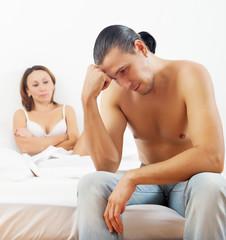 man has problem against his woman