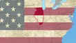 Illinois pull out, smooth USA map, all states available
