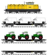 Flat car train set