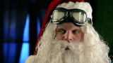 Santa Claus wearing biker glasses