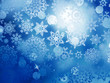 Blue Christmas background with snowflakes. EPS 10