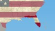 Florida pull out, smooth USA map, all states available