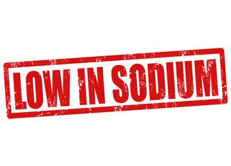 Low in sodium stamp