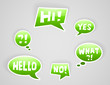 vector green speech bubbles