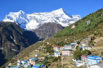 Непал, Гималаи, селение Намче Базар в долине Кхумбу
