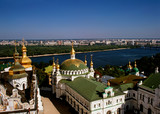 Golden domes of Dormition Cathedral, Kiev Pechersk Lavra, Kiev,