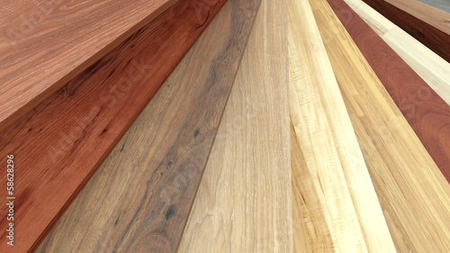 Flooring laminate or parqet samples © pajaro