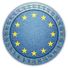 Denim European Union flag
