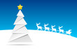 Weihnachtsbaum mit Rentieren