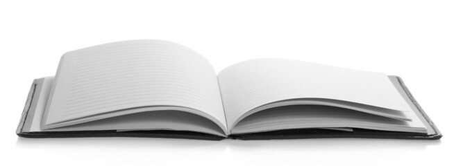 Blank pages of the open notepad