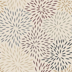 Seamless Pattern with Petals