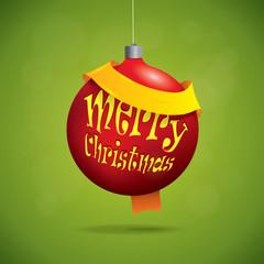 Christmas ball with greeting