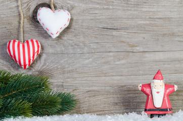 Weihnachtsdekor mit Freiflaeche