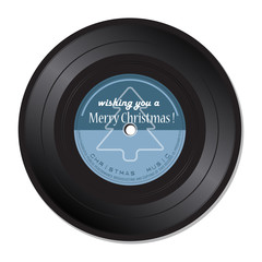 Vinyl record with Christmas music