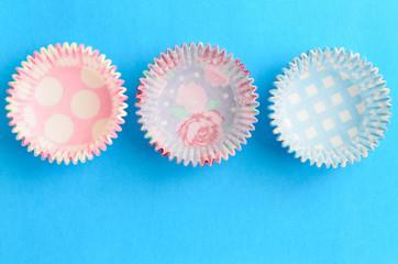Empty cupcake cases