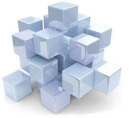 hellblaue abstrakte würfel