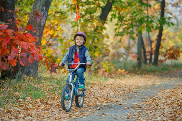Little boy on bicycle