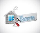 home renovation symbol illustration design