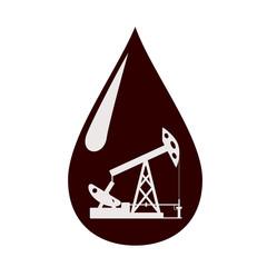 Oil pump in a drop of oil.