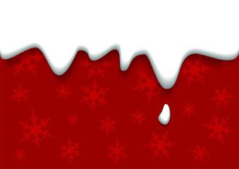 rote Weihnachtskarte mit Zuckerguss