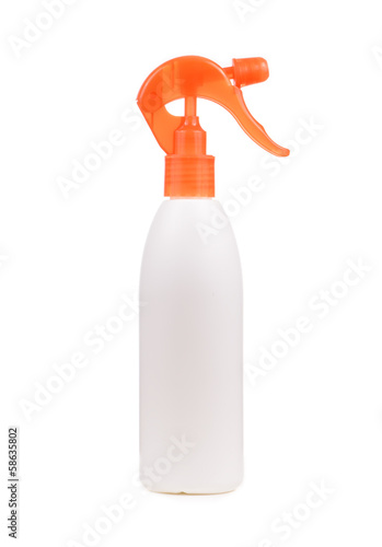 White and orange spray