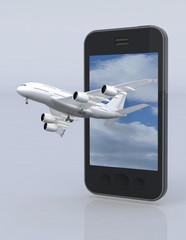 smartphone and airplane