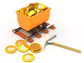 Mining bit coins