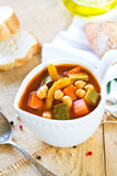 Vegetables with Chickpea soup