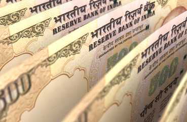 Indian Rupee Closeup