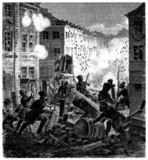 Barricades - Street Battle - 19th century