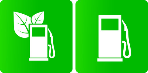 green bio gas station icons