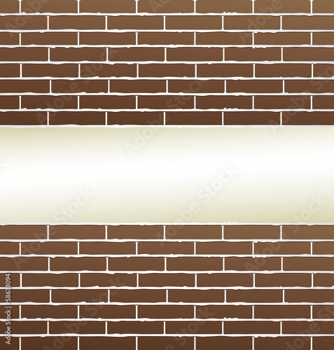 brick wall background with blank place