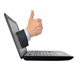 Thumb Up From Computer