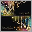 set mit 2 eleganten Weihnachtskarten