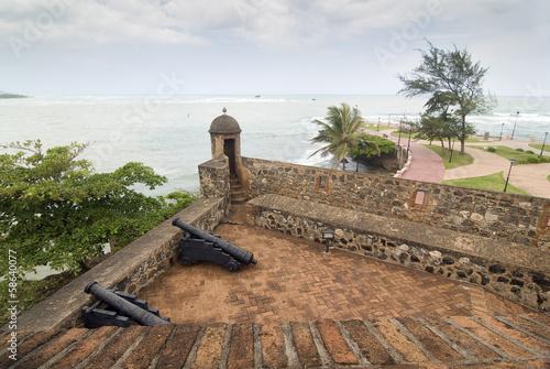 Fotobehang Vestingwerk San Felipe Fortress at Puerto Plata, Dominican Republic