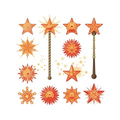 Festive Stars And Wands