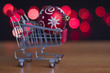 Shopping trolley with Christmas toys