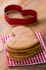 Cookie cutter and homemade Xmas gingerbreads