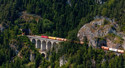 Freight train at Semmering Bahn