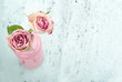 Pink roses with copy space