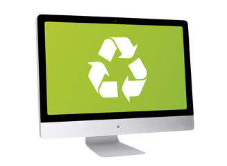 Recycle. Modern computer