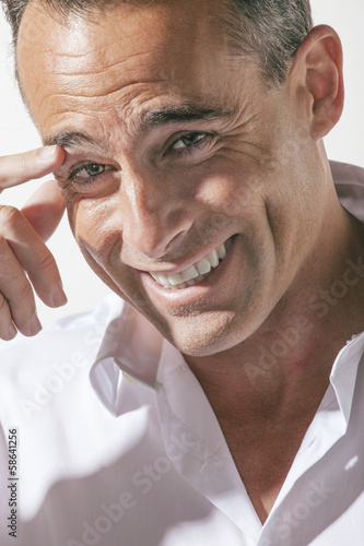 canvas print picture Portrait of handsome mature man.