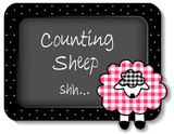 Baby Bulletin Board, Counting Sheep, pink gingham, polka dots