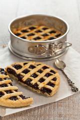 Homemade cherry jam tarts