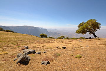 Ethiopian highlands, the Simien Mountains National Park