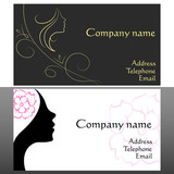 business card for hair and beauty salon