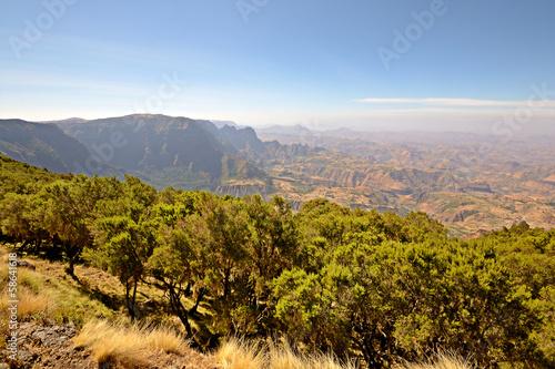Leinwandbild Motiv Ethiopian highlands, the Simien Mountains National Park