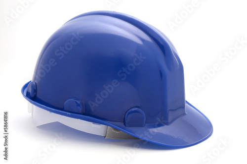 Blue hard cap