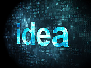 Marketing concept: Idea on digital background